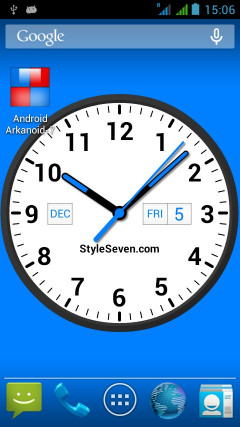 Analog Clock Widget Plus 7 Скриншот