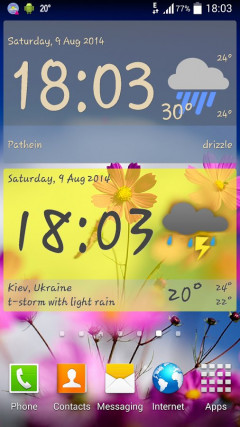 Weather ACE Clock Widget Pack Скриншот