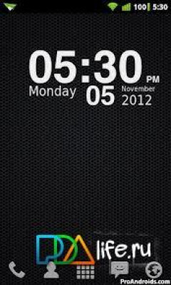 Nexus Clock Widget HD Скриншот