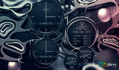 Black clock live wallpaper Скриншот