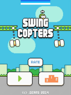 Swing Copters v 1.2.1 Скриншот