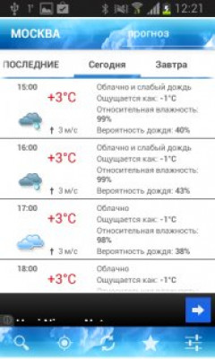 ForecaWeather Скриншот