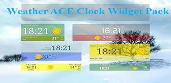 Weather ACE Clock Widget Pack