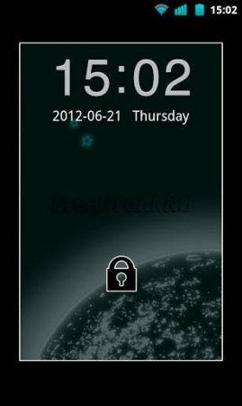 Sky Black Theme Go Locker