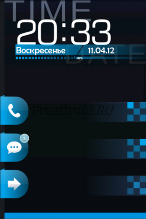 Z.Card Blue Go Locker Theme